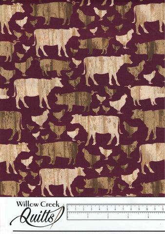 Quilt Barn Prints - Red - 10192-10