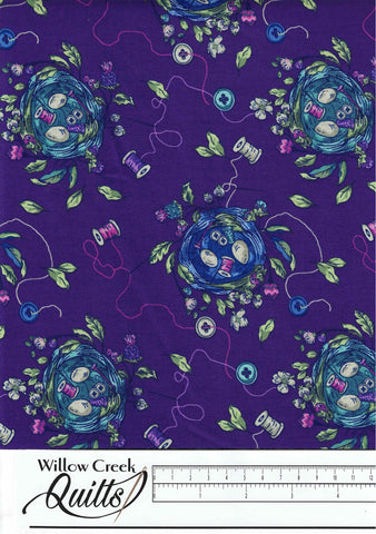 Stag and Thistle - Sew Bountiful - Purple Multi - 23306-88