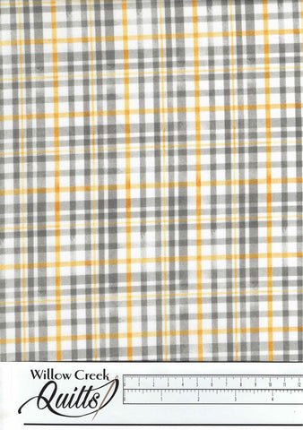 Queenbee - Beehive plaid - Gray - DC9154-D