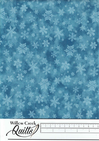 Christmas Woodland - Snowflake Blend - Blue - 23529-44