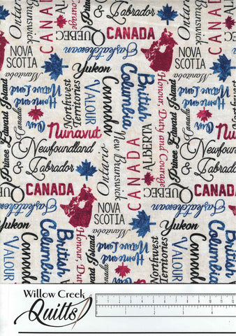 "Oh Canada 8 backing - 104"" wide - B23994-12"