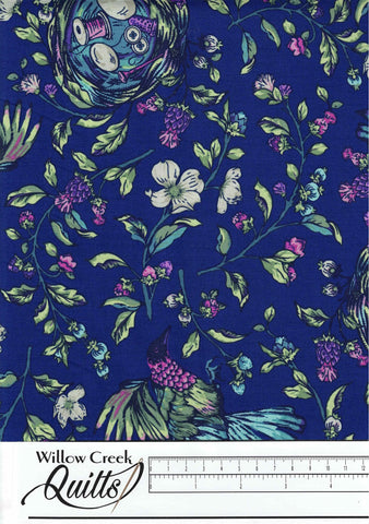 Stag and Thistle - Songstress - Navy Multi - 23305-48