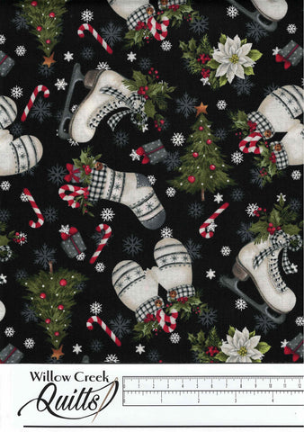 Farmhouse Christmas - Farmhouse Toss - Black Multi - 23495-99