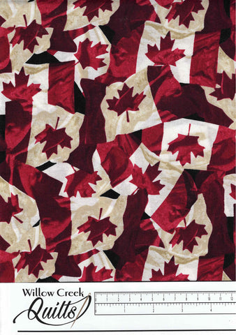 Oh Canada 8 - Canadian Flags - Red - 23393-24