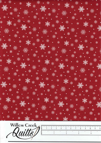 Farmhouse Christmas - Snowflake - Red - 23498-24