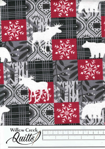 Forest Animal Multi Deer Craft Flannel - 1110020717