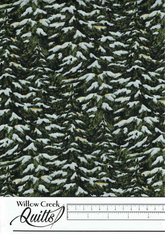 Christmas Wish - Pine Trees - Green - 23466-74