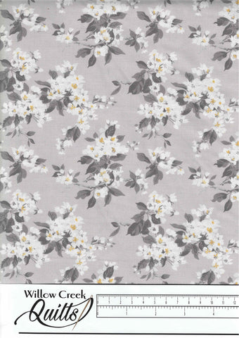 Summer Blooms - Apple Blossom - Grey - 71190201-03
