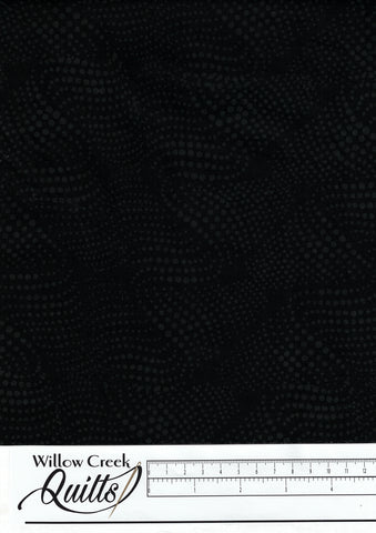 Batik Blender - Wavy Dots - Black - BE23-E1