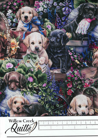 Animal Instincts - Gardening Puppies - Multi - 3470-8C