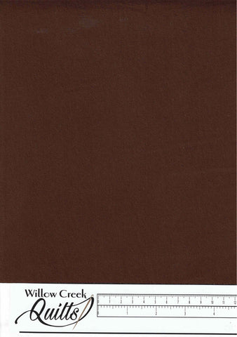 "Chocolate Extra Wide Flannel - 108"" wide - Solid - XWF-CHOC- 04"