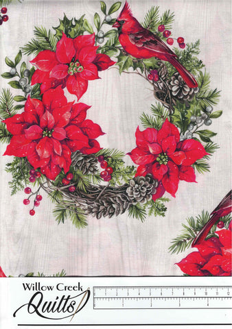 The Scarlet Feather - Poinsettia - Pale Gray Multi - 23473-91