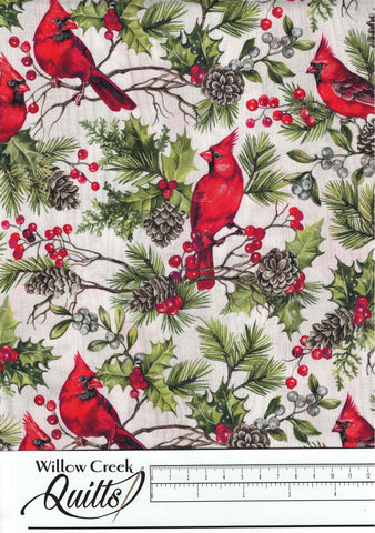 The Scarlet Feather - Cardinals - Pale Gray Multi - 23474-91
