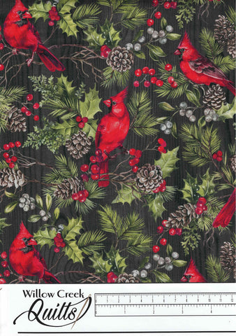 The Scarlet Feather - Cardinals - Charcoal Multi - 23474-96