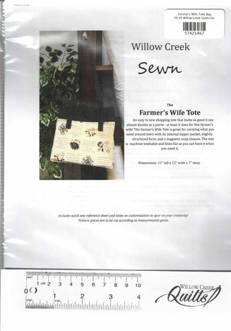 Farmer's Wife Tote Bag pattern