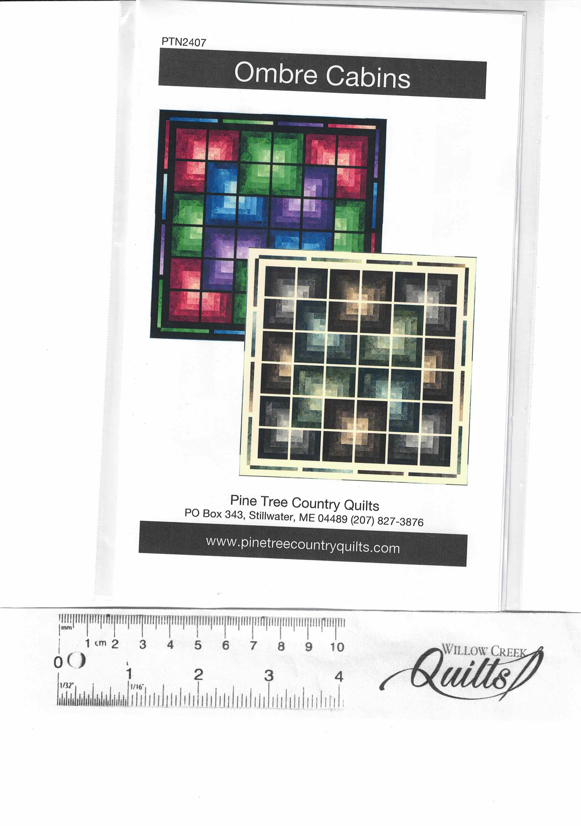 Ombre Cabins pattern - PTN2407