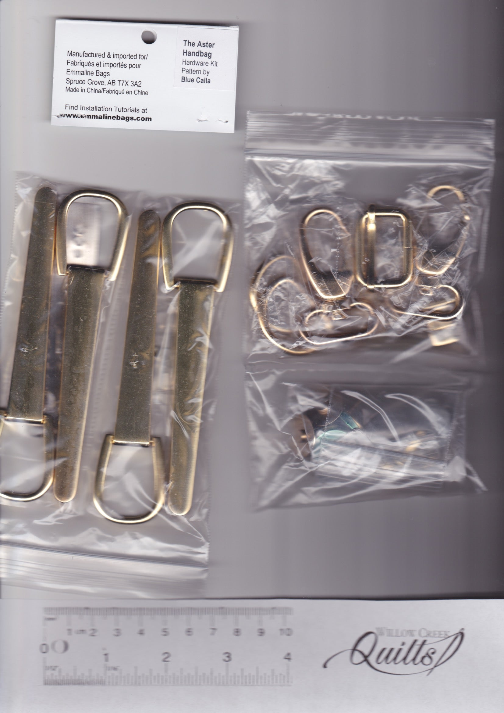 The Aster Handbag Hardware Kit 2 - Gold Finish