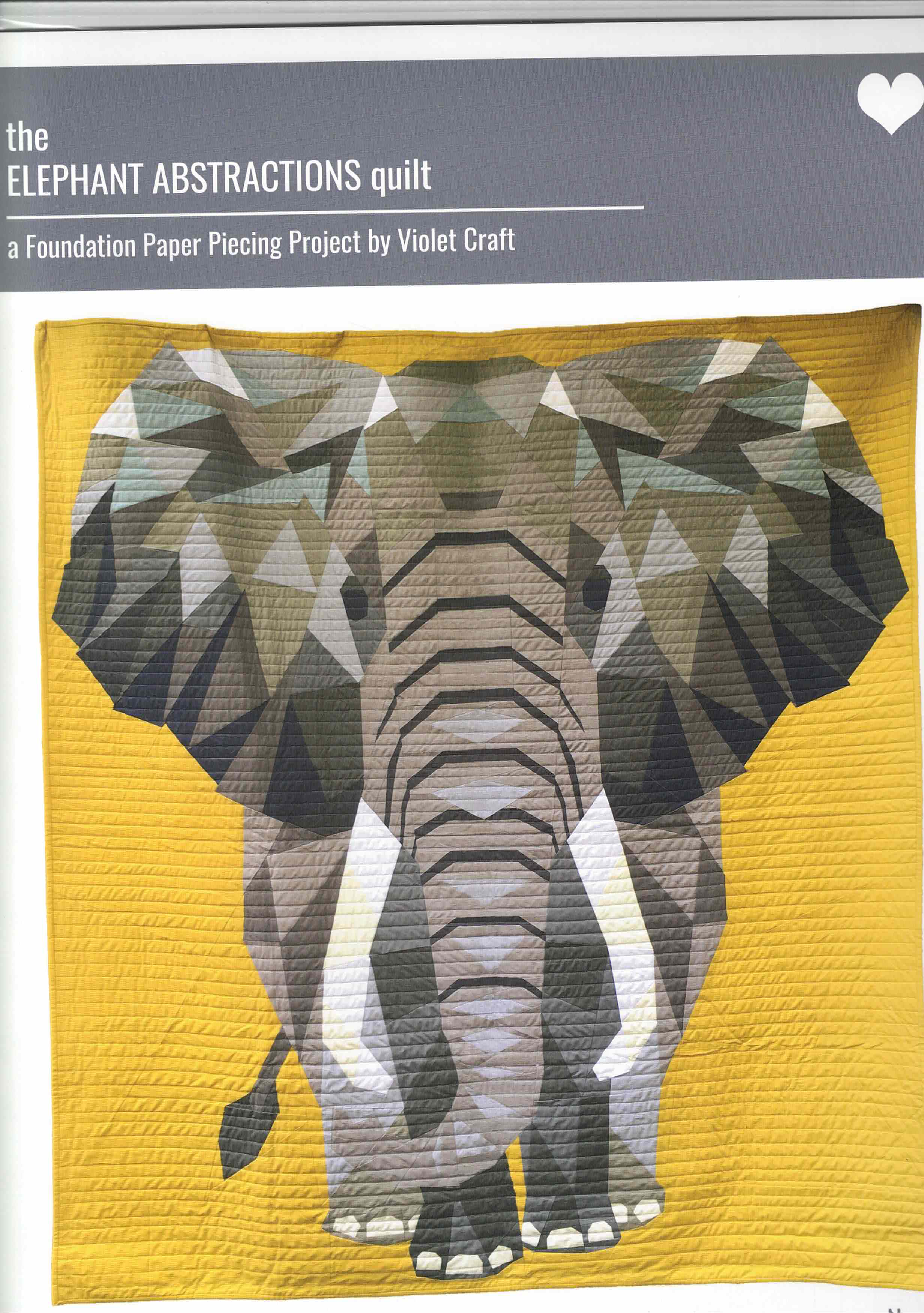 The Elephant Abstractions Quilt pattern - 010