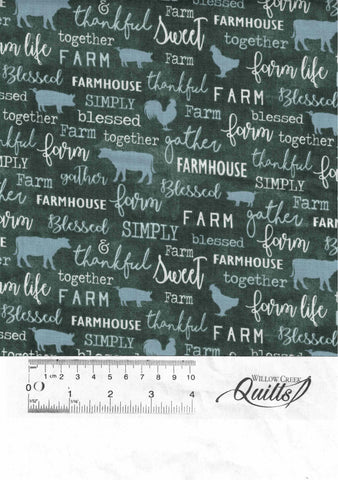 Farm Sweet Farm - Teal - 16843-84