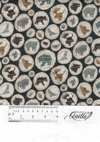 Outdoor Adventure flannel - Animal Toss - Teal Multi - F23188-68