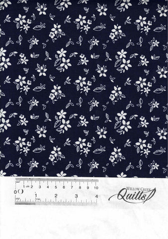 Something Borrowed - Floral - C-8425-Navy