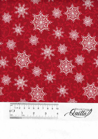 Winter Greetings Snowflakes - 4216-88 - Red