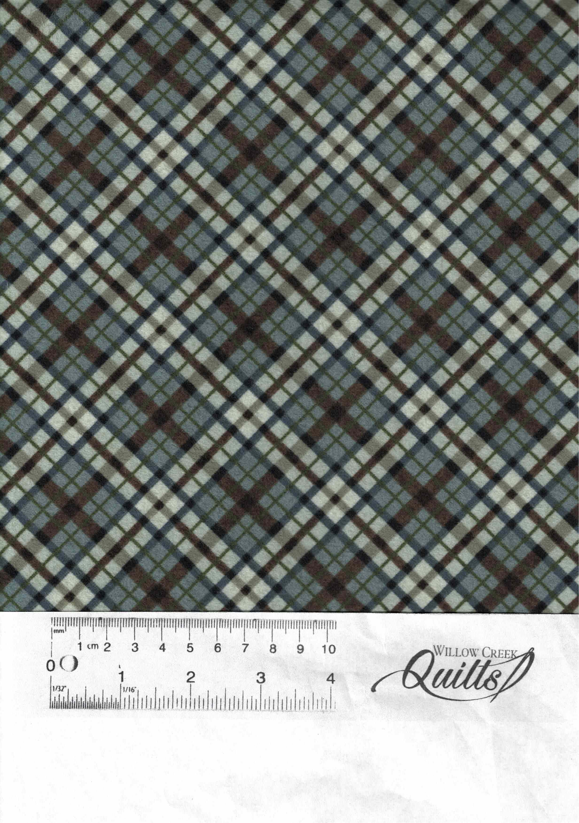 Outdoor Adventure flannel - Diagonal Plaid -  Wedgewood - F23190-66