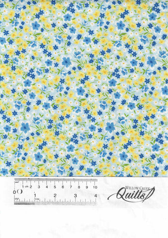 Fleurette - Light Blue Mixed Floral - 19908-445