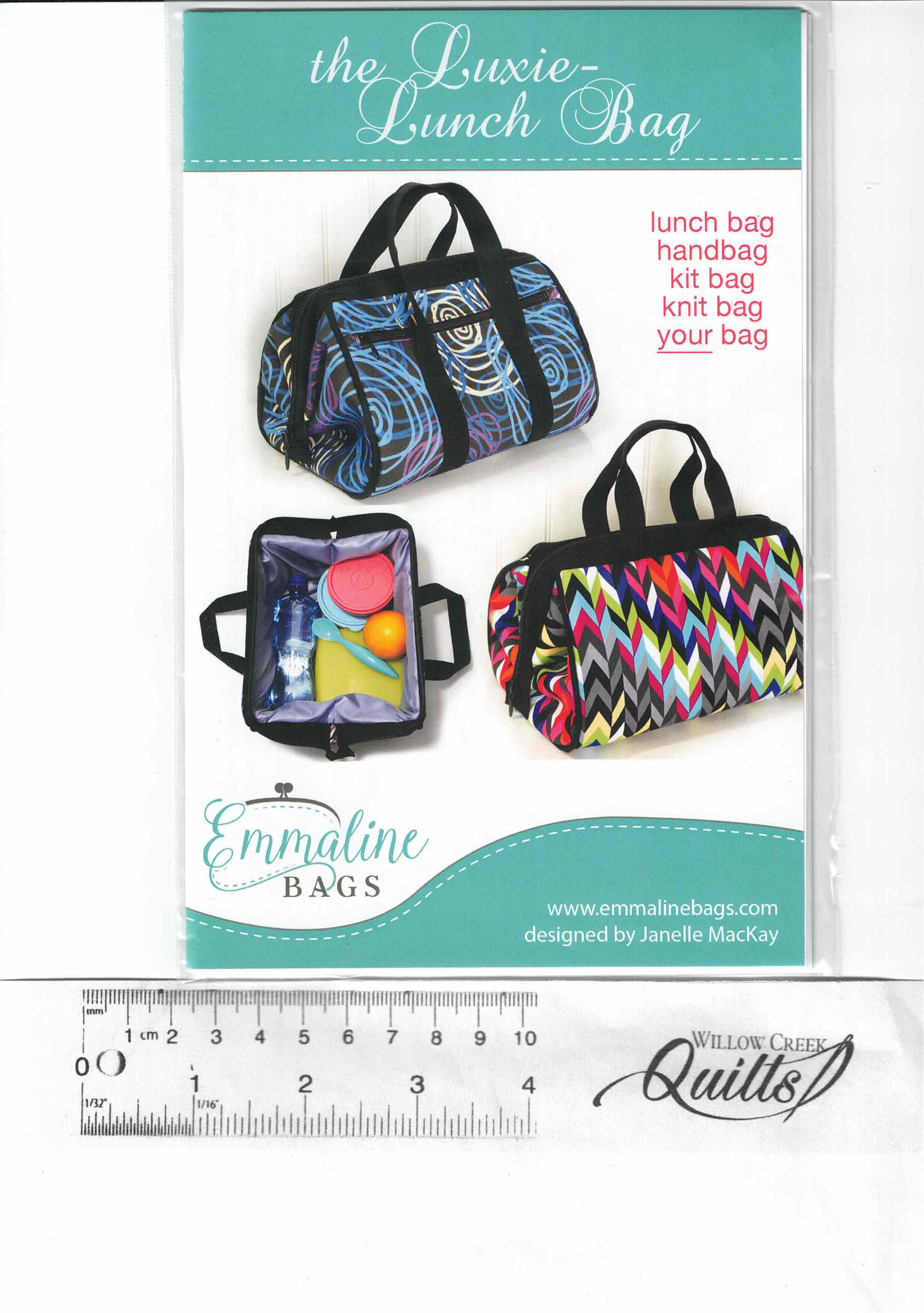 The Luxie Lunch Bag pattern - EMMB-111