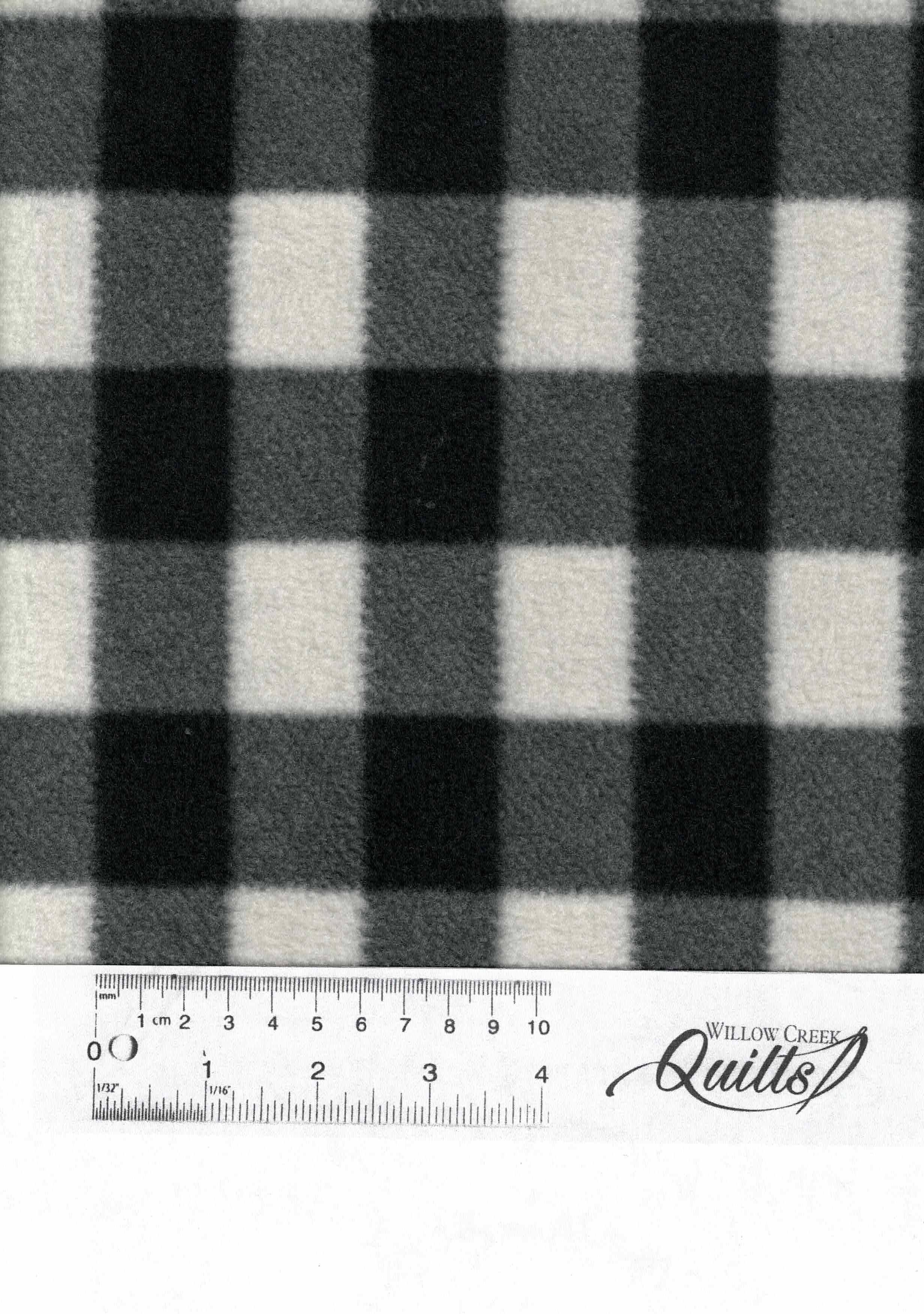 Arctic Check Fleece - White and Black