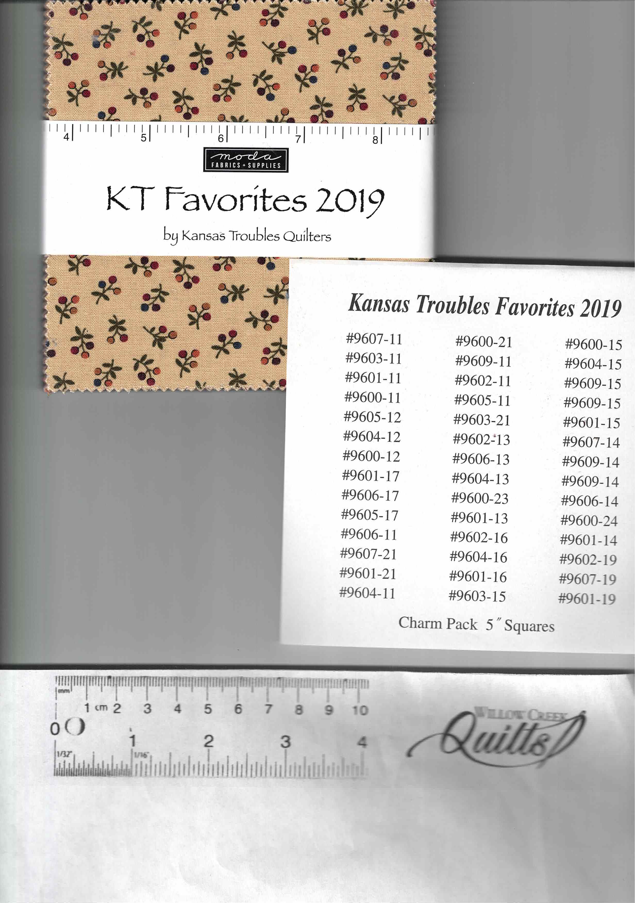 Kansas Troubles Favorites 2019 Charm Pack - PP9600