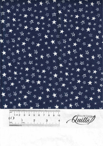 Soft & Sweet Flannel - Navy - 520607F-16