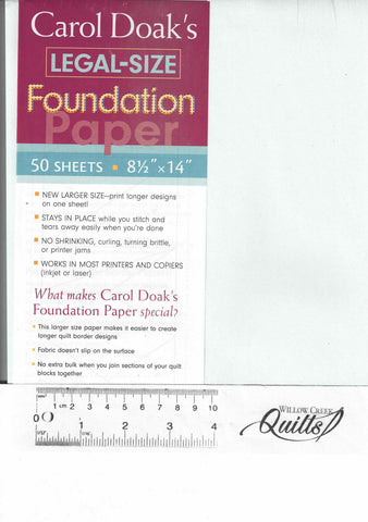 Carol Doak's Legal Size Foundation Paper - 20152 - 50 sheets