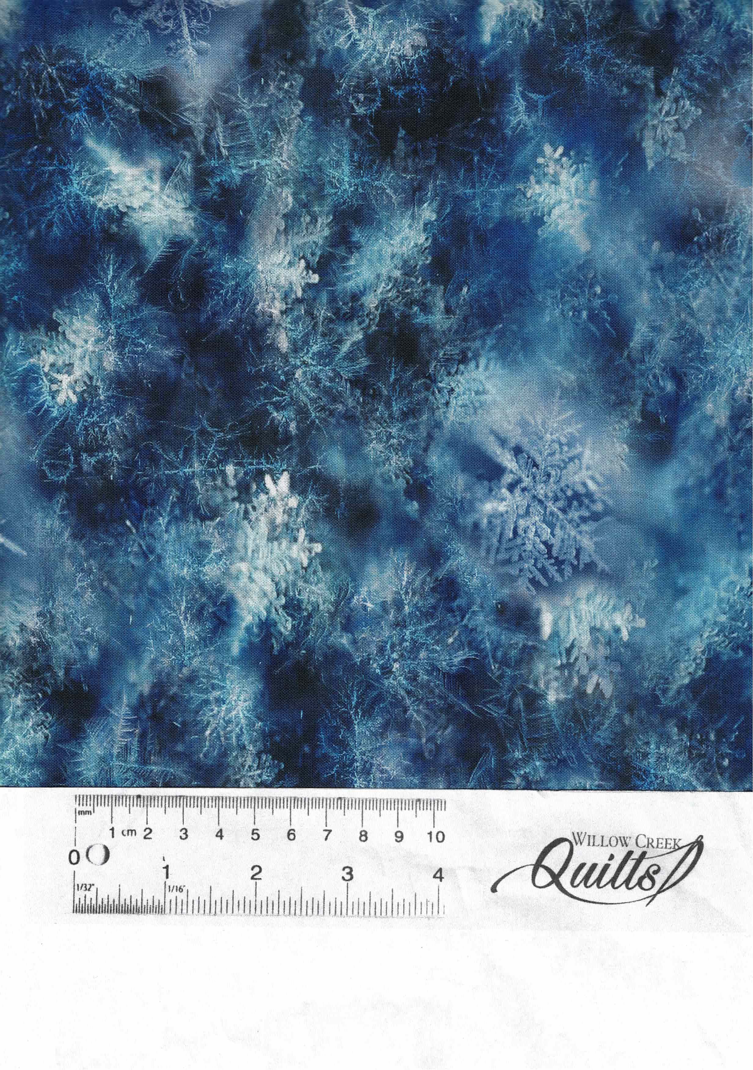 Blue Snowflakes Digital Print - Q4458H-7