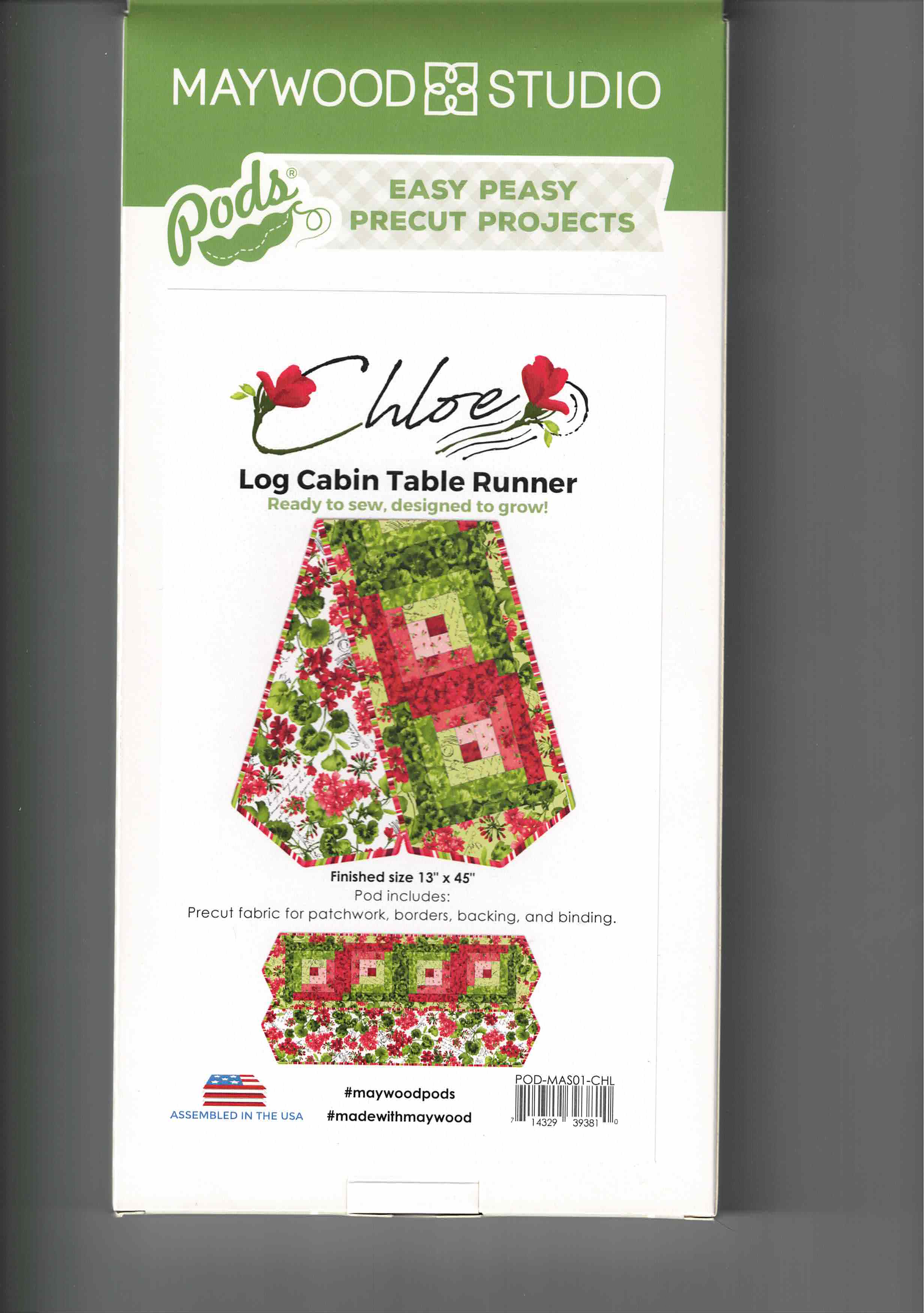 Log Cabin - table runner - Pods - POS-MAS01-CHL