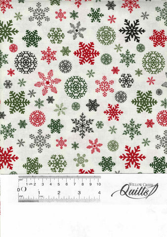 Christmas Delivery - Christmas Snowflakes - C7333 - Cream