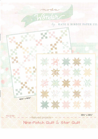 Wonder Project Sheets - Nine Patch & Star Quilt - PS13190