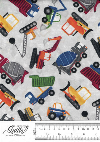 Construction Zone - Tossed Vehicles - Gray Multi - DP23260-91