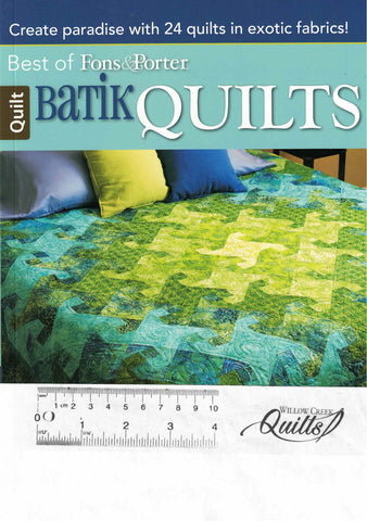 The Best of Fons & Porter - Batik Quilts pattern book - 6051