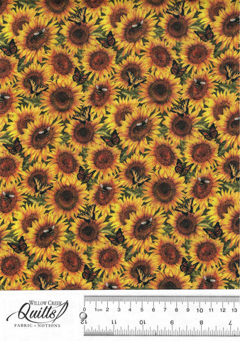 Country Paradise - Sunflowers - Yellow - DP23070-52