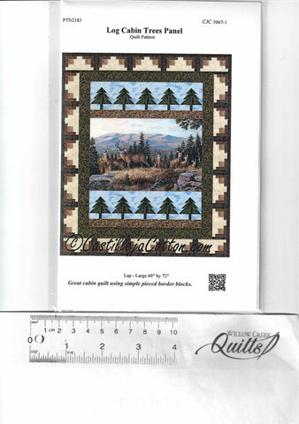 Log Cabin Tree Panel pattern - CJC 5067-1