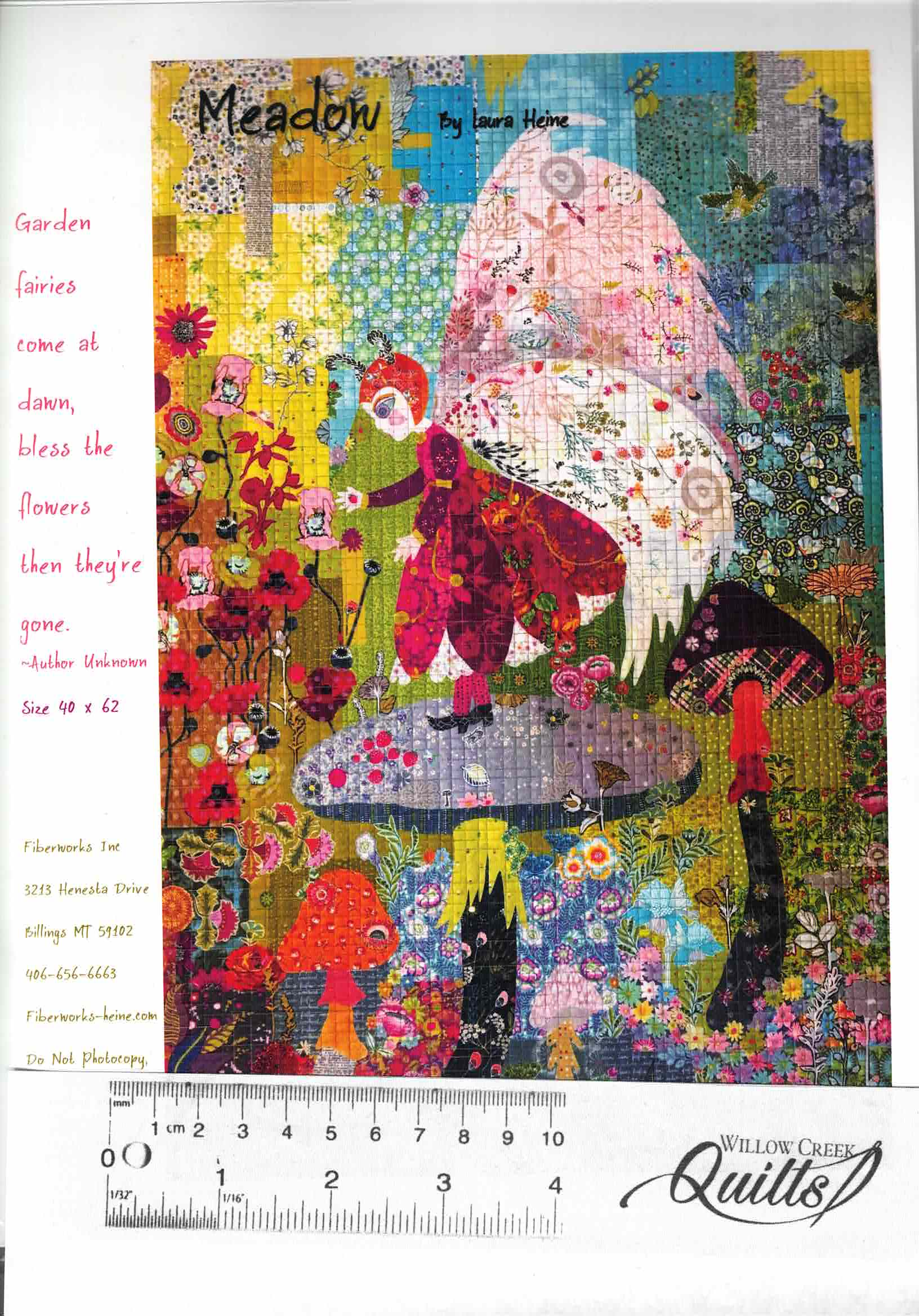 Meadow Fairy Collage pattern - by Laura Heine