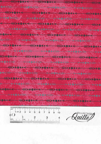Roses & Arrows - Arrow Stripe - 9102-88 - Red