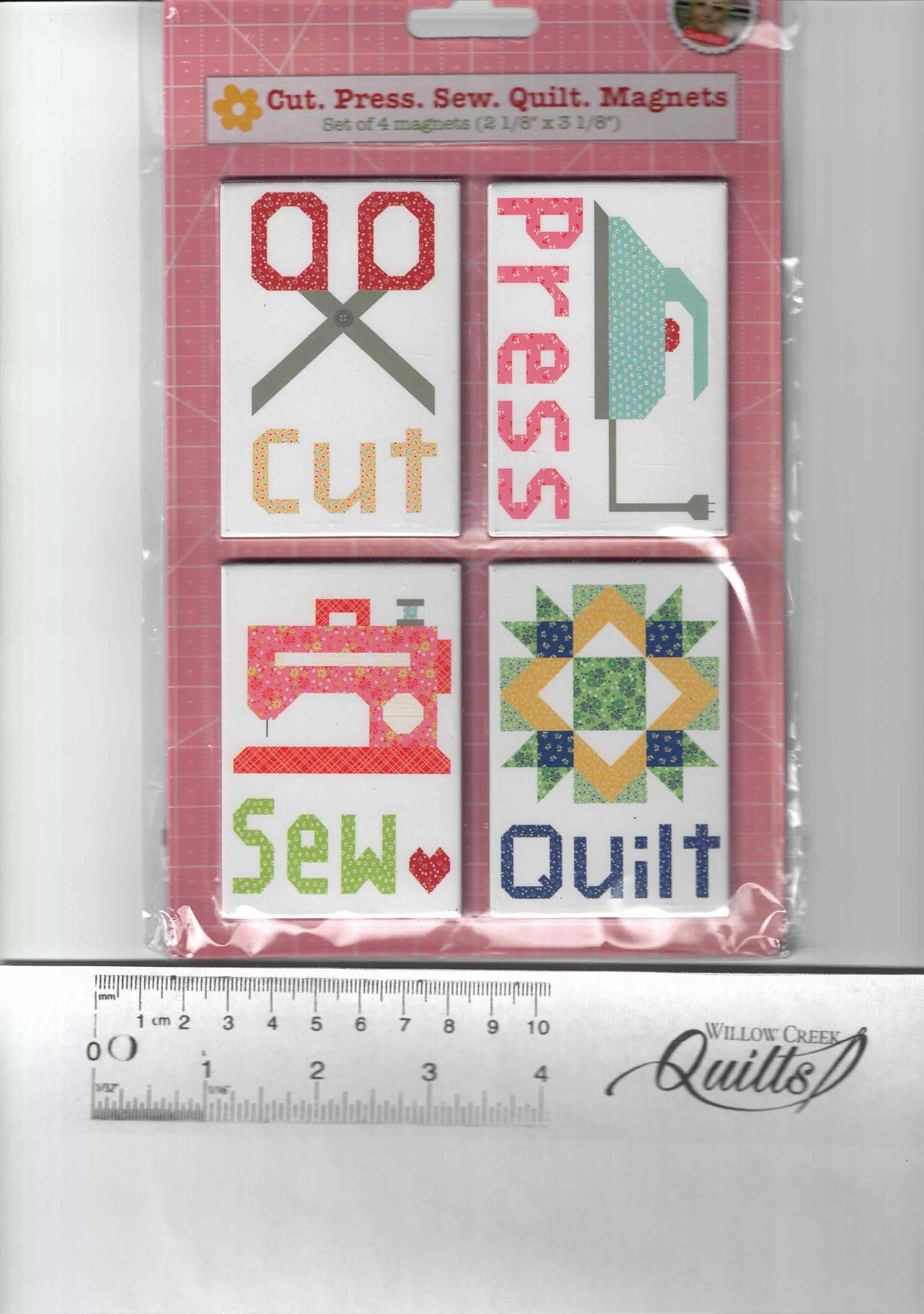 Magnets - Cut Press Sew Quilt - set of 4