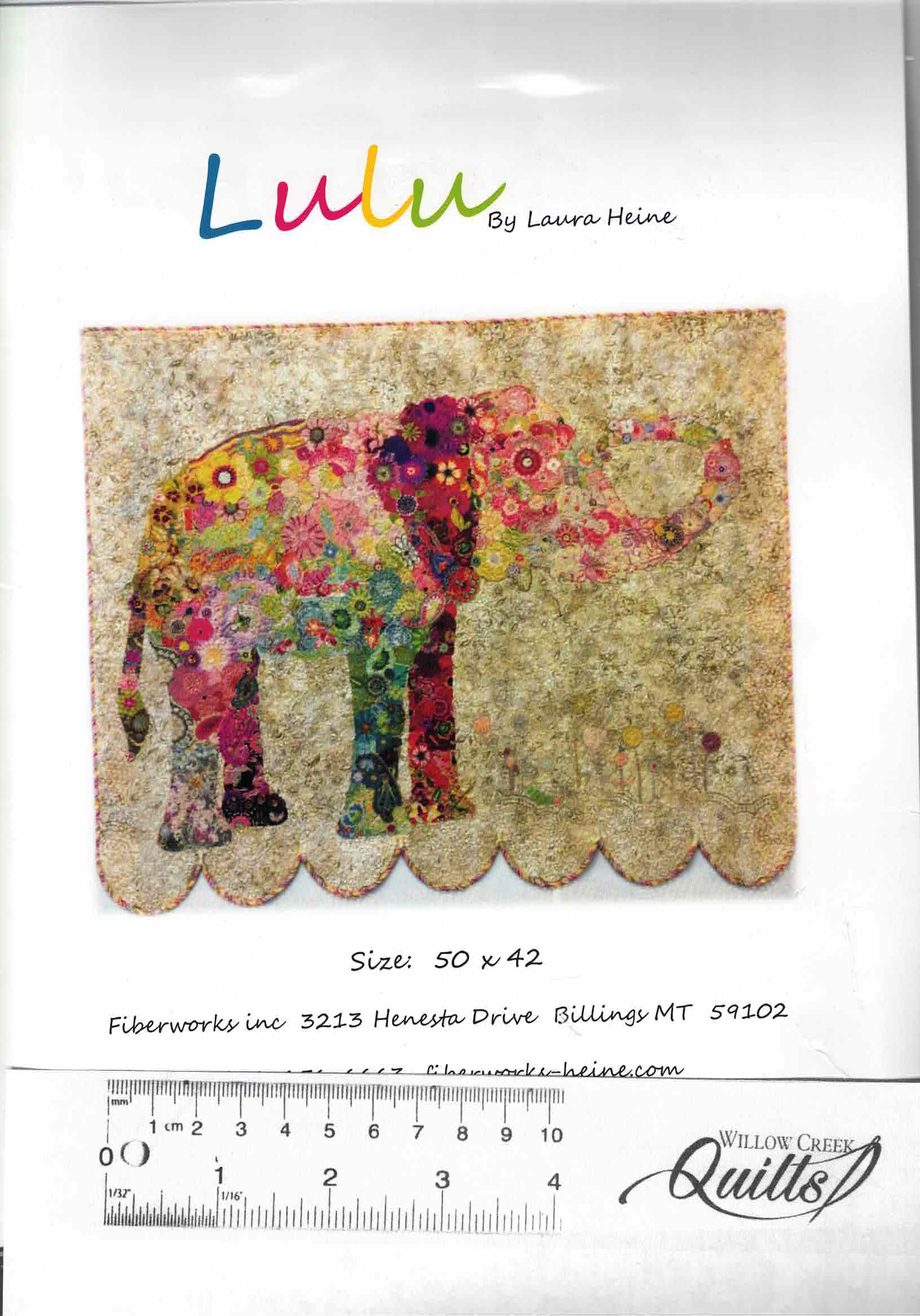 Lulu the Elephant Collage pattern - by Laura Heine