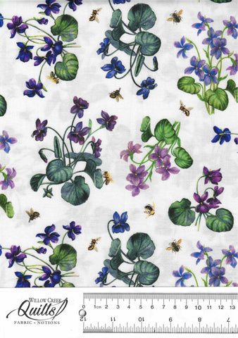 Chelsea - African Violet - White Multi - DP23059-10
