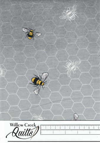 Queenbee - Honeycomb Border - Gray - DC9158-D