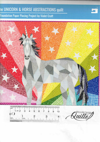 The Unicorn & Horse Abstraction quilt pattern - 035