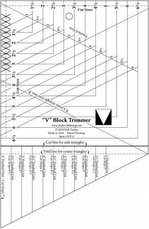 V Block Ruler - Deb Tuckers - UDT11