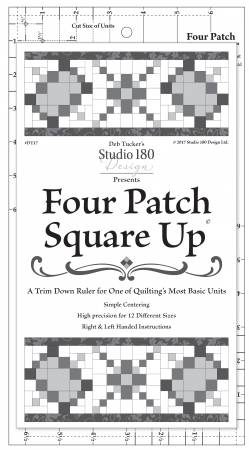Four Patch Square Up ruler - DT17
